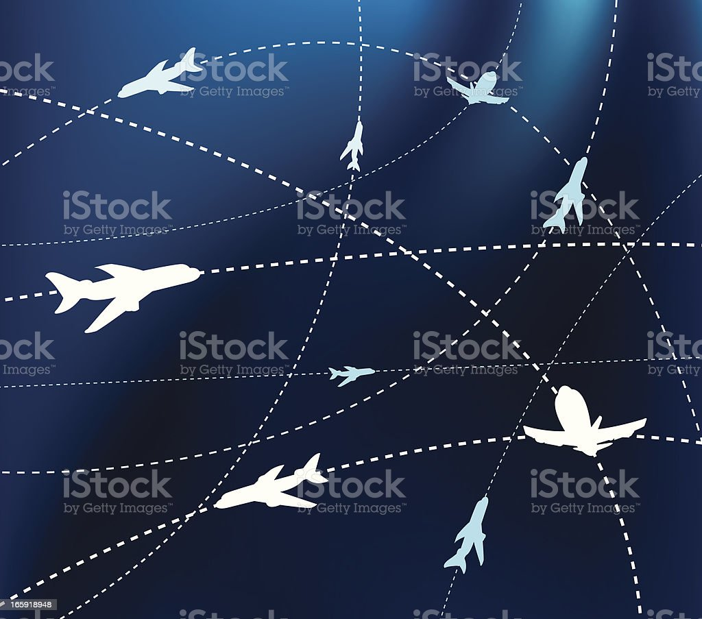 Flight Pattern - Airline or Airplane Background royalty-free stock vector art