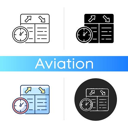 Flight scheduling icon