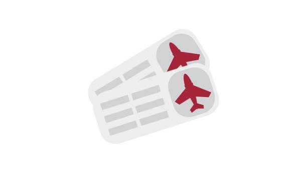 Flugticket Icon – Vektorgrafik