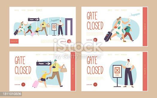istock flintstones_3_landing_flight_late_family_boarding_gate_closed_set 1311010326