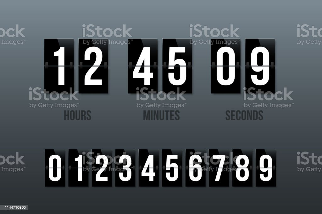 Flip Clock Showing How Much Time Hours Minutes And Seconds Flip
