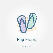 Flip Flops doodle vector icon