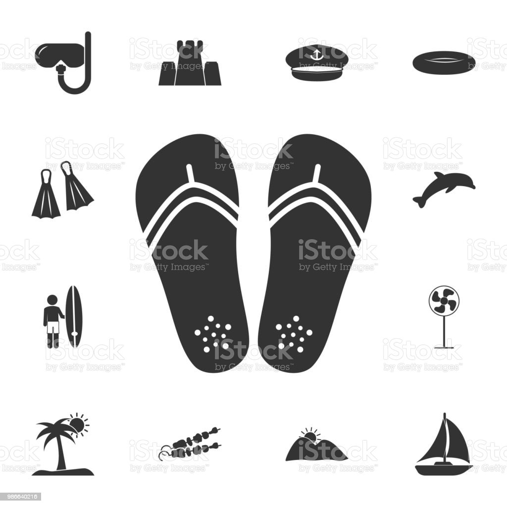 3c11568cc Flip flops icon. Detailed set of Summer illustrations. Premium quality  graphic design icon. One of the collection icons for websites