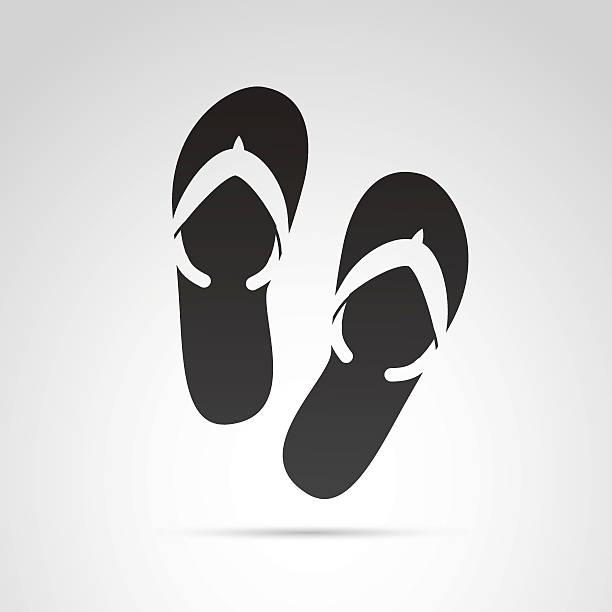 stockillustraties, clipart, cartoons en iconen met flip flops icon. - sandaal
