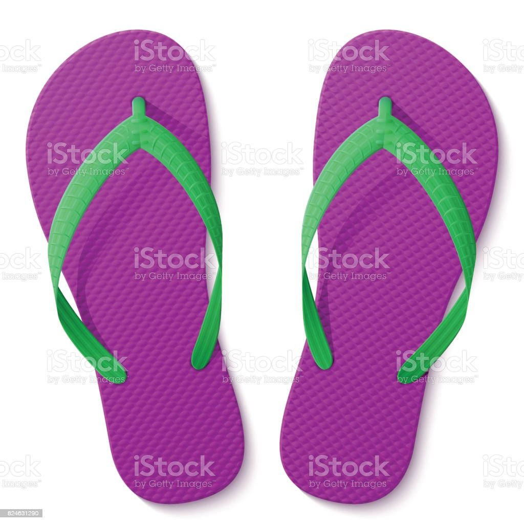 bbc4da65380ece Flip Flops Isolated On White Background Stock Vector Art   More ...