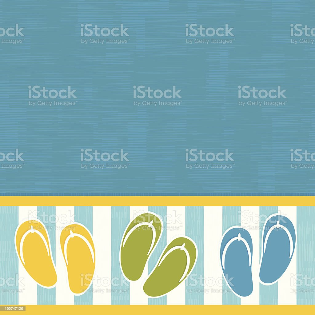Flip flops on a pool royalty-free flip flops on a pool stock vector art & more images of backgrounds