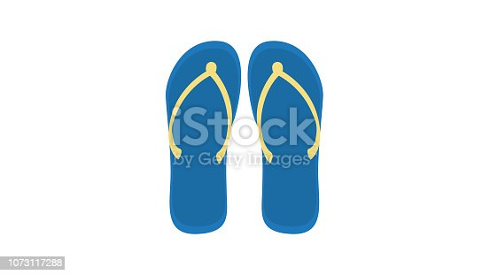 istock Flip flops shoes footwear sandals 1073117288