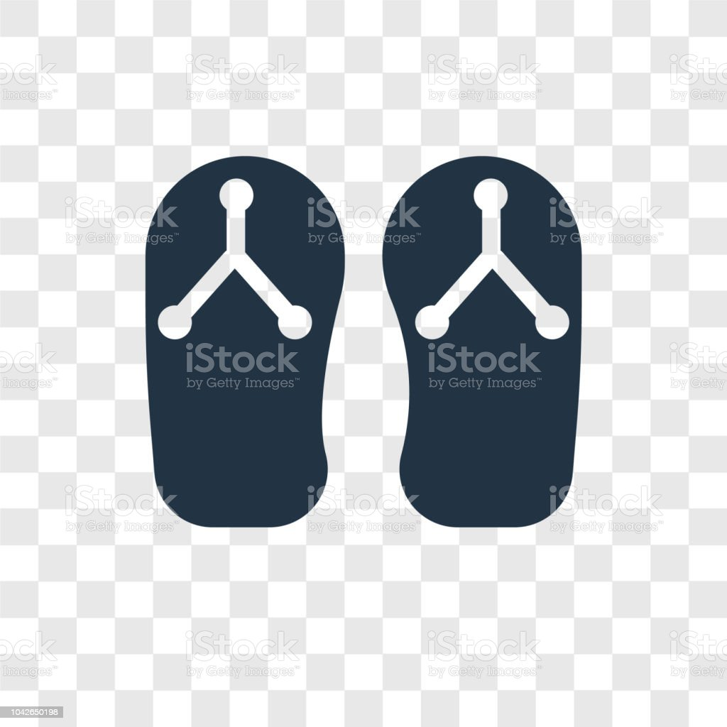 545ec51d2 Flip Flops Vector Icon Isolated On Transparent Background Flip Flops ...