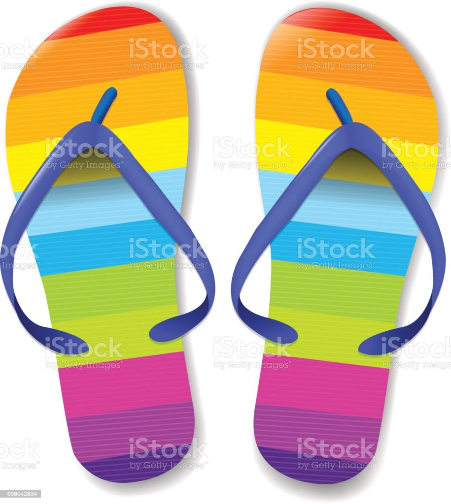 royalty free flip flop clip art vector images illustrations istock rh istockphoto com pink flip flops clipart summer flip flops clipart