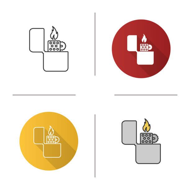 flip leichter symbol - feuerzeuggas stock-grafiken, -clipart, -cartoons und -symbole