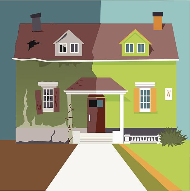 Flip the house vector art illustration