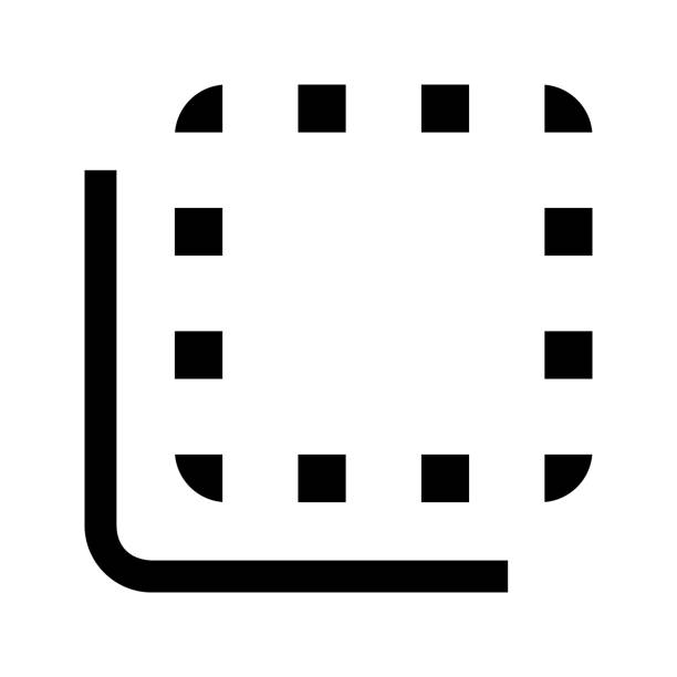 Flip to back button icon vector art illustration