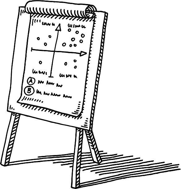 flipboard diagramm business-zeichnung - flipchart stock-grafiken, -clipart, -cartoons und -symbole