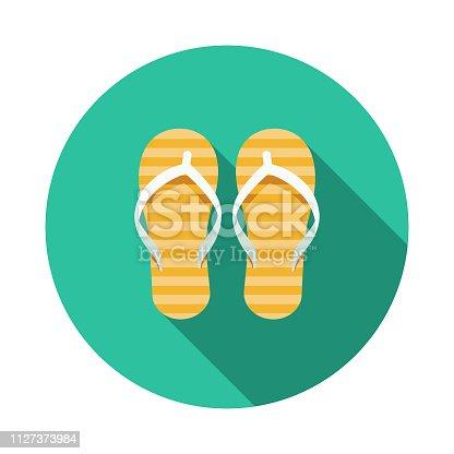 istock Flip-Flops Australia Icon 1127373984