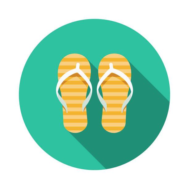 stockillustraties, clipart, cartoons en iconen met slippers australië pictogram - sandaal