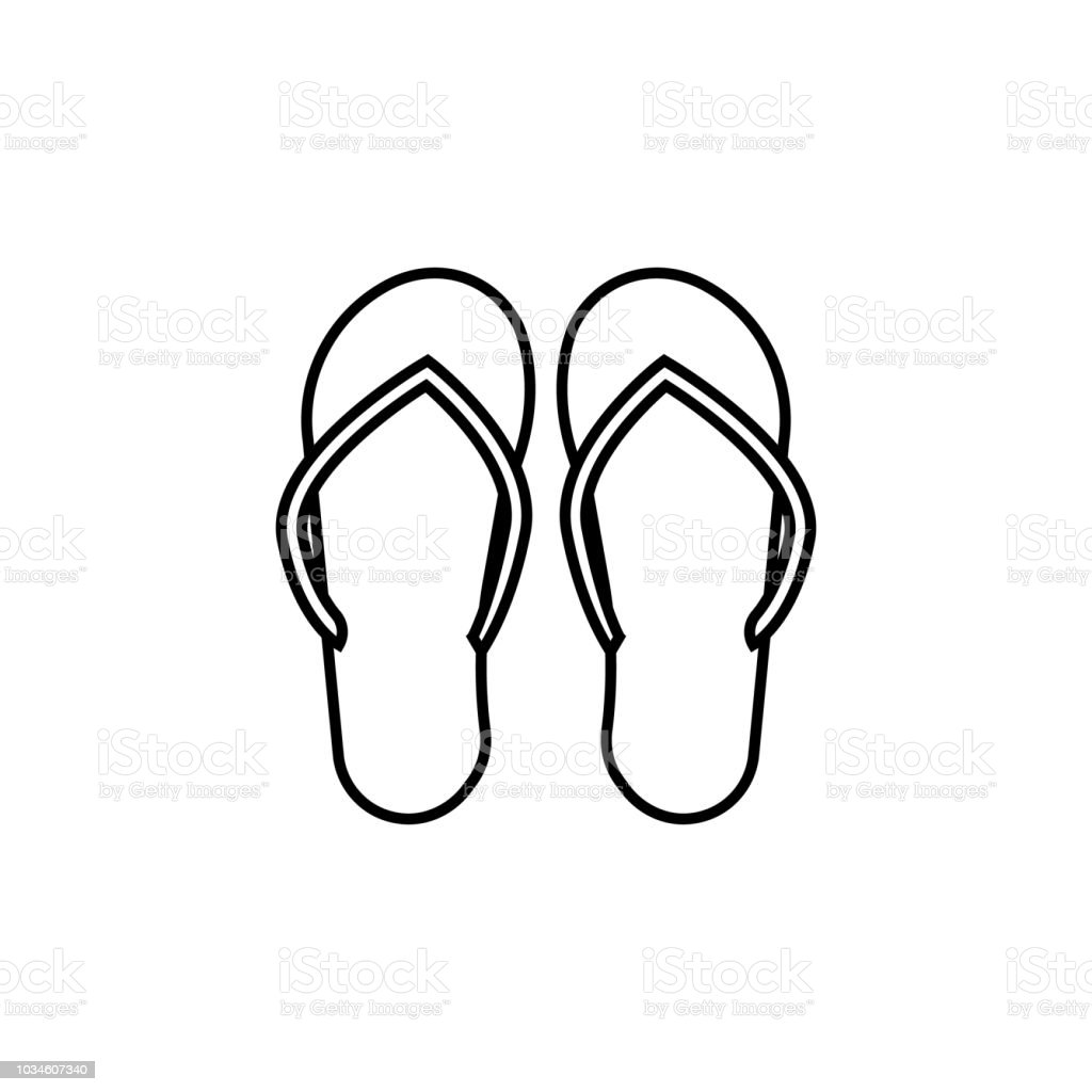 fe500a576 Flip-flops icon. Element of travel icon for mobile concept and web apps.  Thin line flip-flops icon can be used for web and mobile. Premium icon - ...