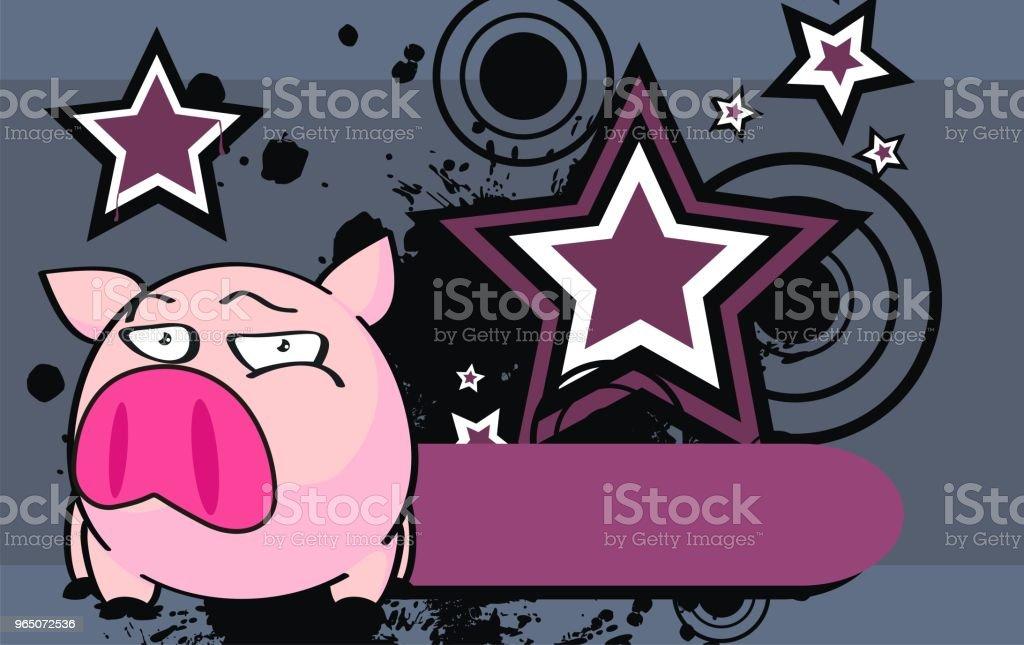 flirty little pink pig ball cartoon expression background flirty little pink pig ball cartoon expression background - stockowe grafiki wektorowe i więcej obrazów ameryka Łacińska royalty-free