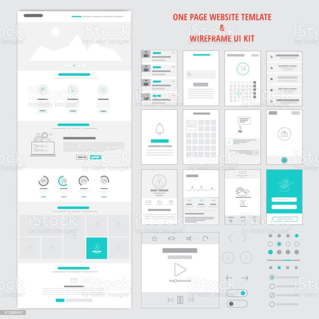 Fllat Sensible Una Página Web De La Plantilla - Arte vectorial de ...
