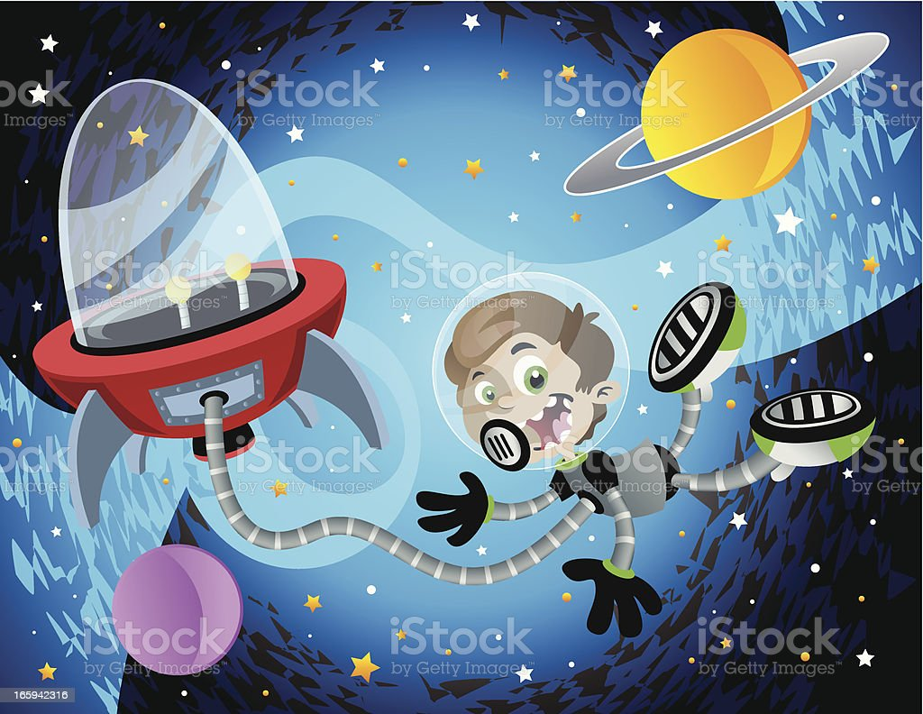 Float in Space royalty-free float in space stock vector art & more images of astronaut