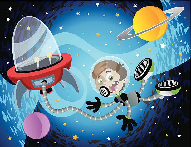 Float in Space vector art illustration