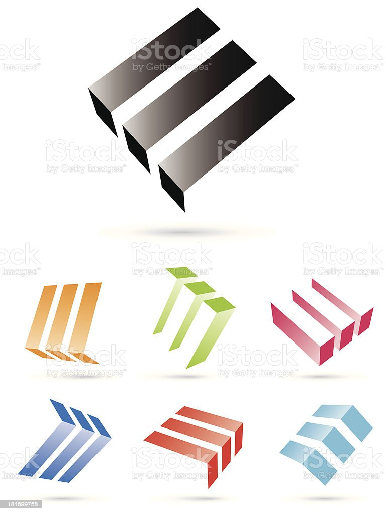 Floating blocks abstract vector symbols royalty-free floating blocks abstract vector symbols stock vector art & more images of arrow symbol