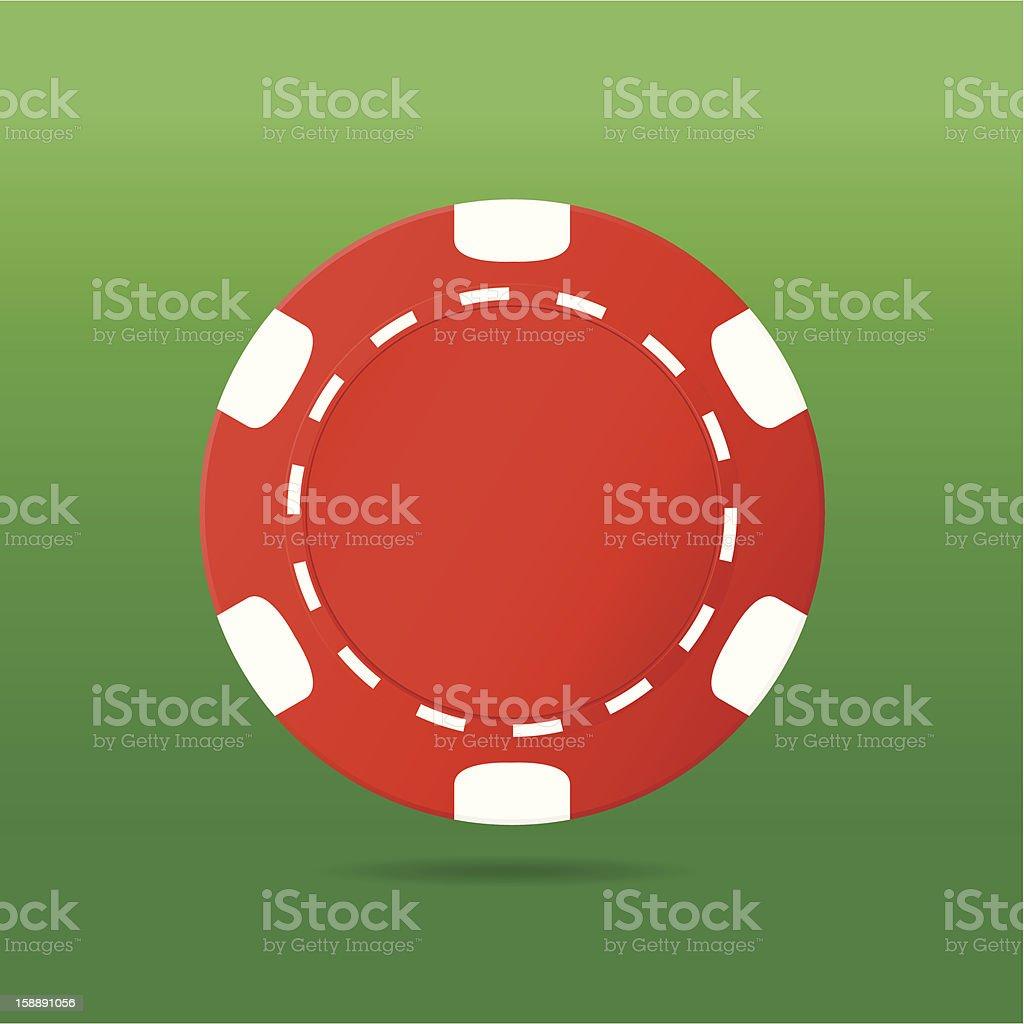 Floating front-facing, red poker chip vector art illustration
