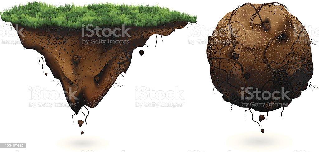 Floating Ground vector art illustration
