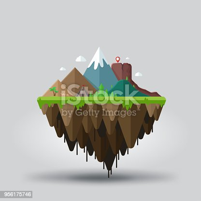 istock Floating island, adventure tourism. Travel and tourism 956175746