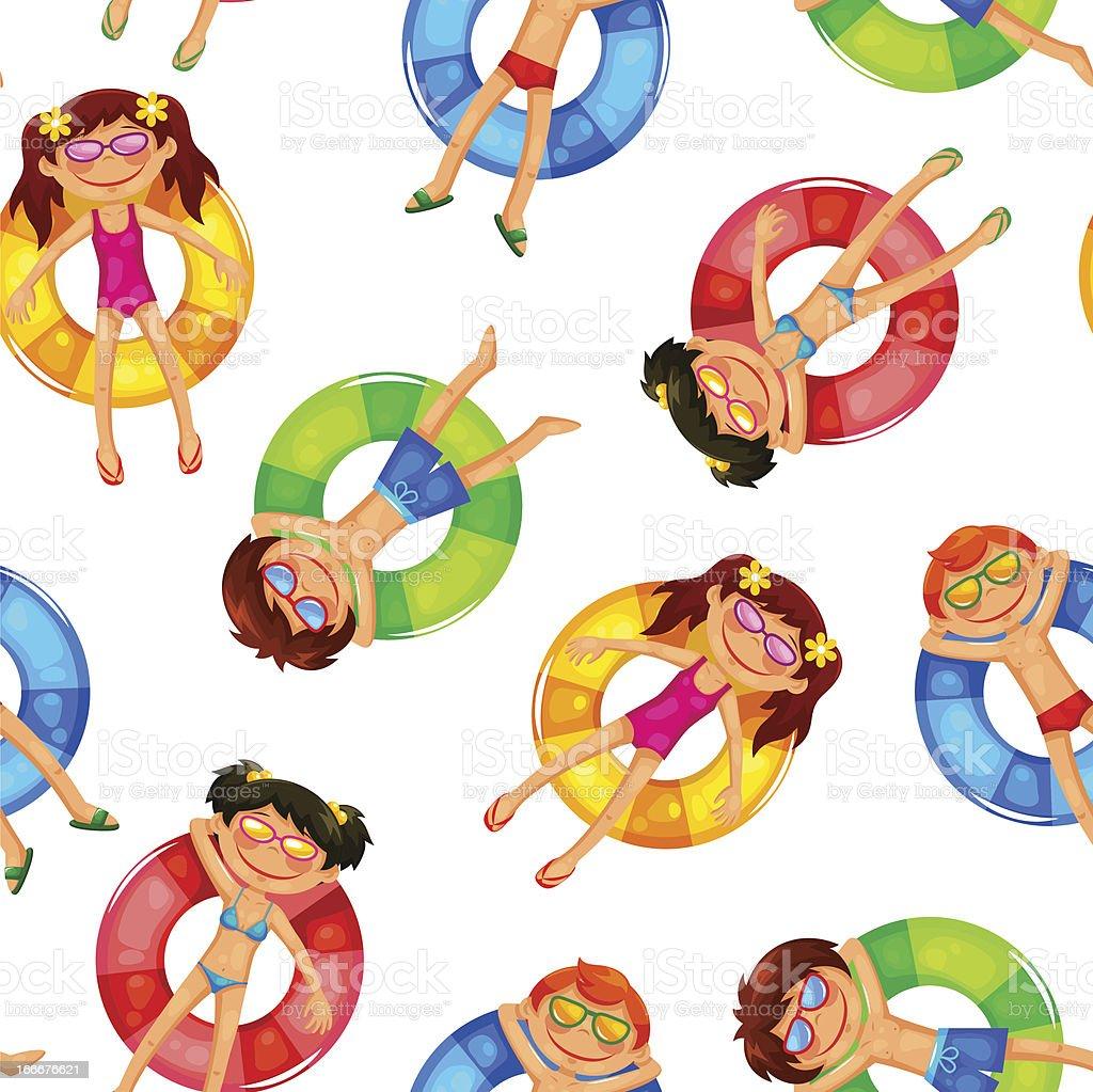 floating kids pattern royalty-free stock vector art