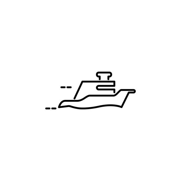 floating yacht icon. Element of speed for mobile concept and web apps illustration. Thin line icon for website design and development, app development. Premium icon vector art illustration