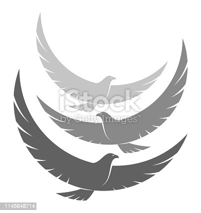 istock Flock of eagles 1145648714