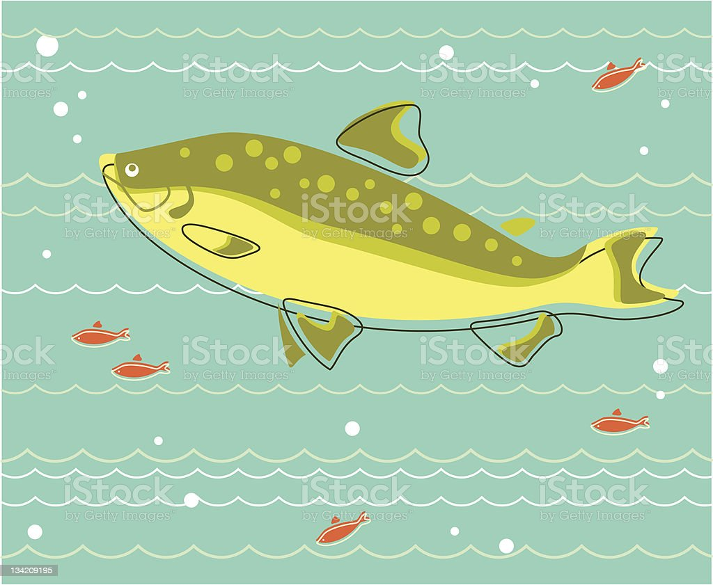 Flock of Fishes royalty-free flock of fishes stock vector art & more images of animal