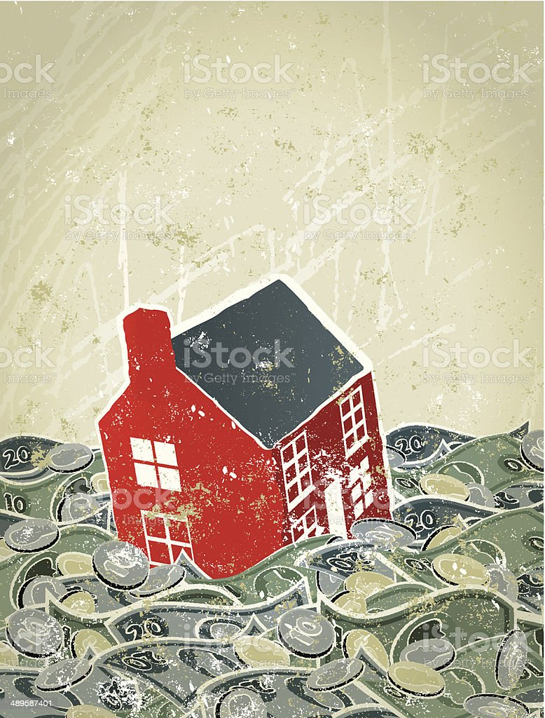 Flood, House Sinking in Money Sea