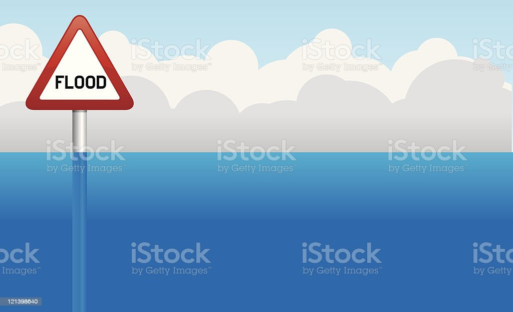 Flood royalty-free stock vector art