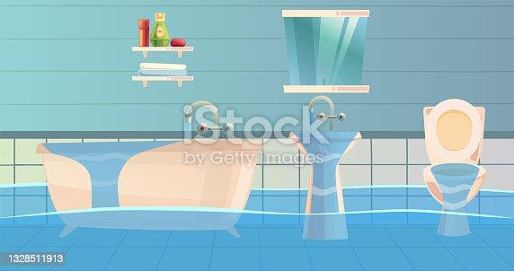 istock Flooded Bathroom 1328511913
