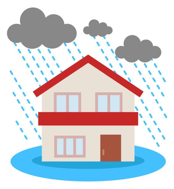 洪水の家 ベクターアートイラスト