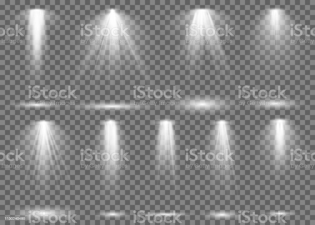 Floodlight. Light spotlight stage beam, spot lamp projection studio...