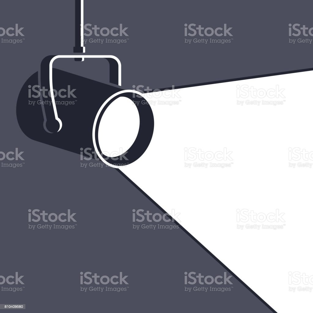 Floodlight vector art illustration