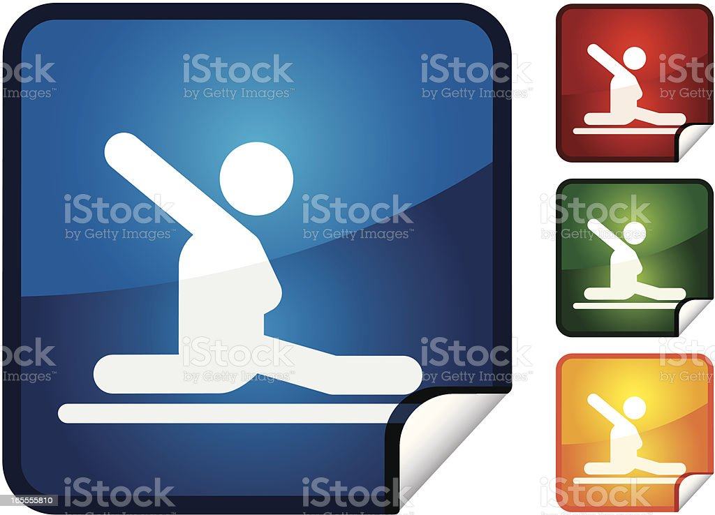 Floor Gynastics | Sticker Collection royalty-free stock vector art