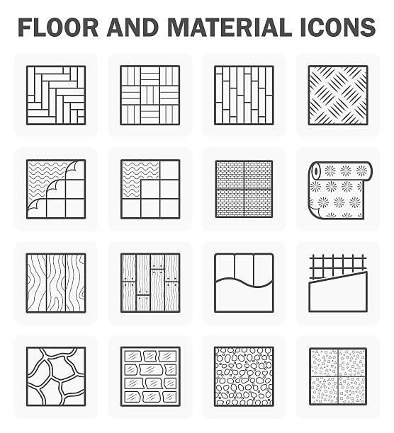 piętro ikony - drewno tworzywo stock illustrations