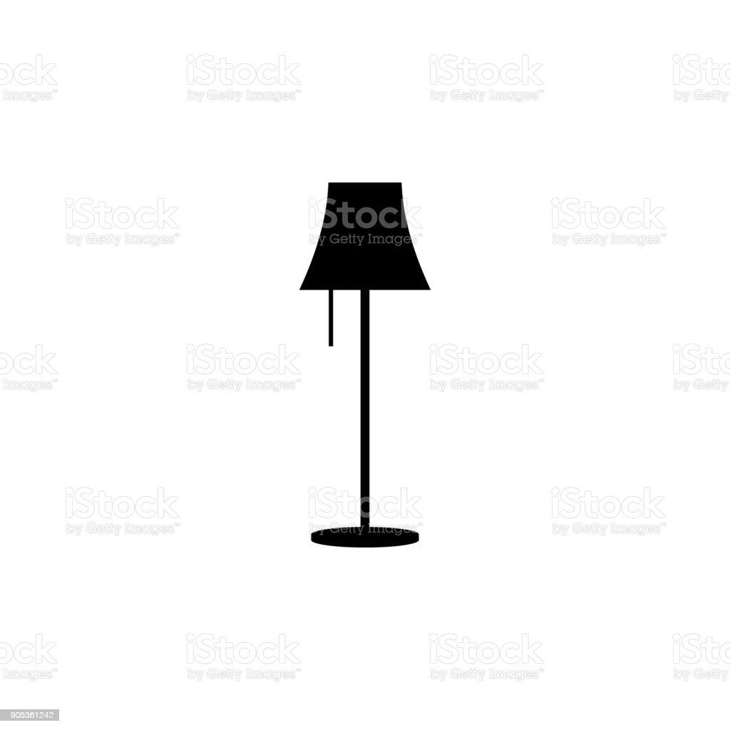 Floor Lamp Icon Elements Of Furniture Icon Premium Quality Graphic