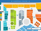 istock Floor map of a shopping center illustration 1194339283