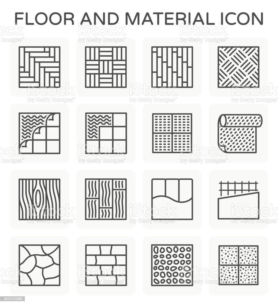 floor material icon vector art illustration