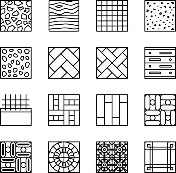Line Art Floors : Linoleum clip art vector images illustrations istock
