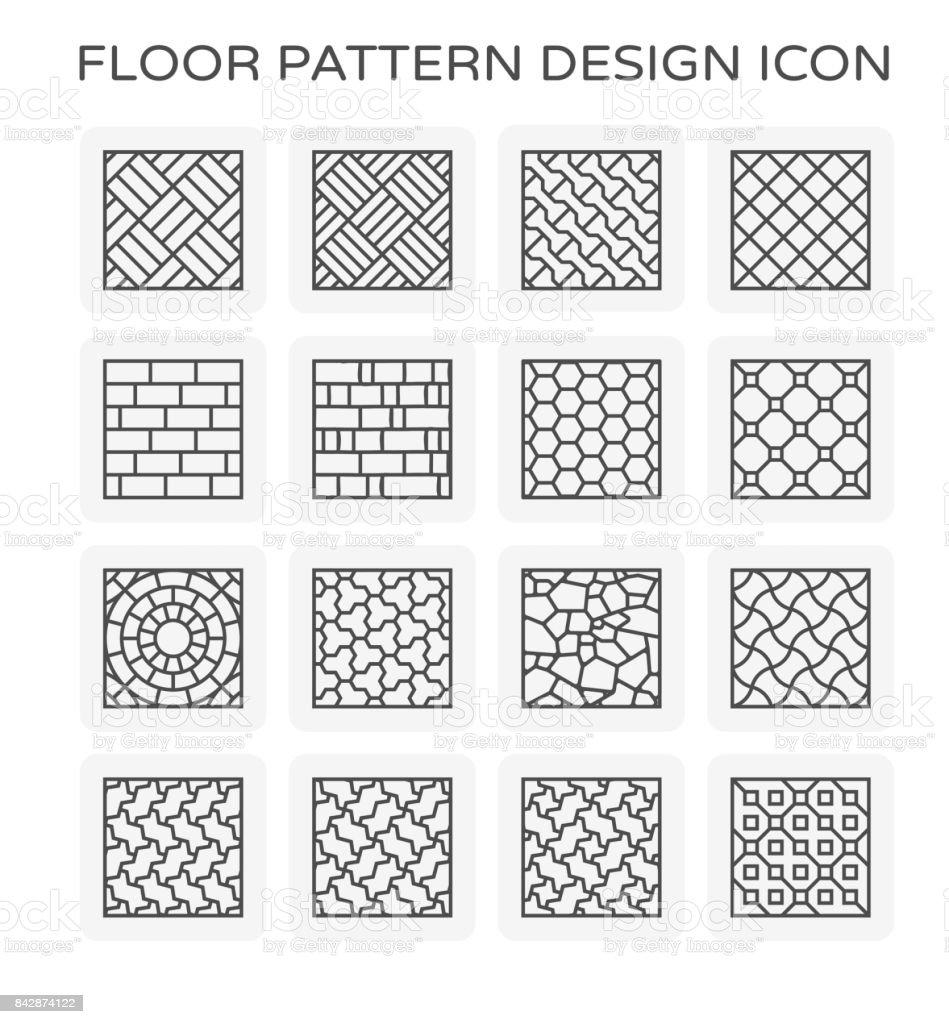 floor pattern icon vector art illustration