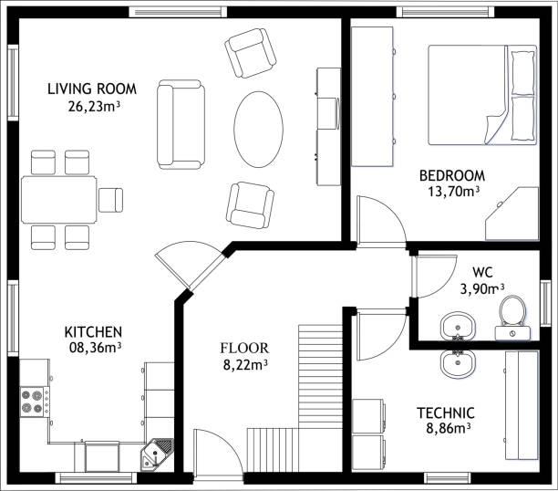 Free Floor Plan Vector Art