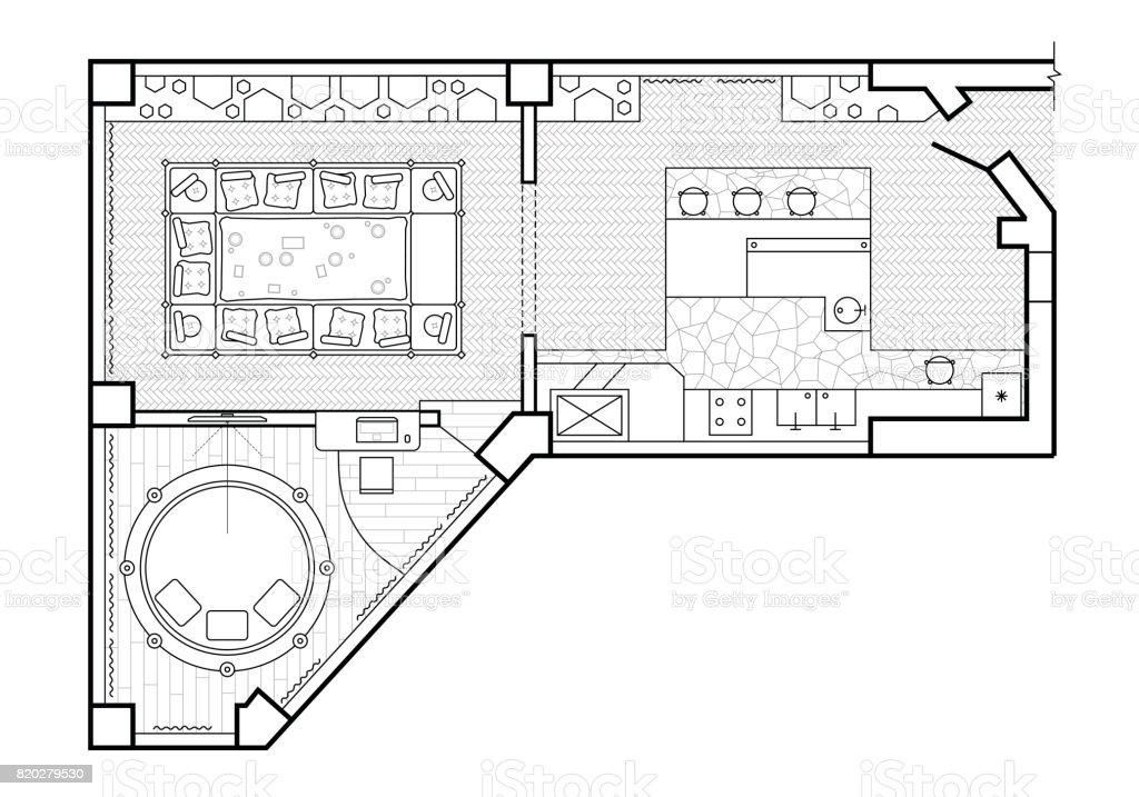 https://media.istockphoto.com/vectors/floor-plan-top-view-the-interior-design-terrace-the-cottage-is-a-vector-id820279530