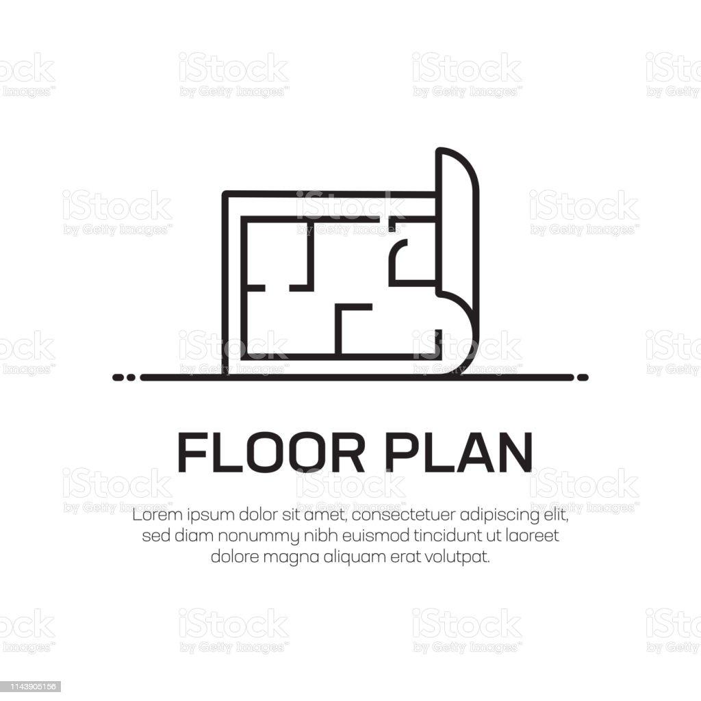 Floor Plan Vector Line Icon Simple Thin Line Icon Premium Quality Design Element Stock Illustration Download Image Now Istock