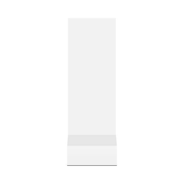 illustrazioni stock, clip art, cartoni animati e icone di tendenza di floor standing advertising totem mock up - front view - totem fair