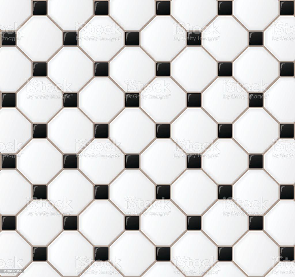 floor tile design background vector art illustration